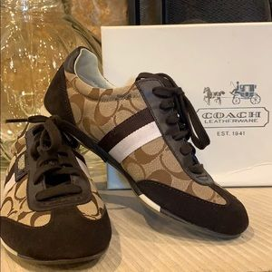 Coach Blk/Brn Dillon shoes NWT